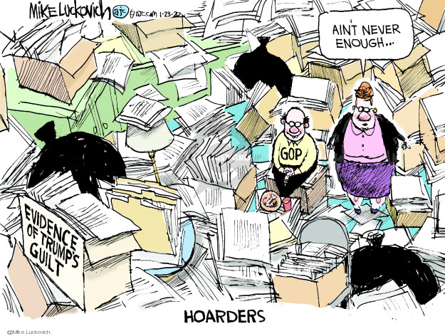 Cartoonist Mike Luckovich  Mike Luckovich's Editorial Cartoons 2020-01-23 republican senate