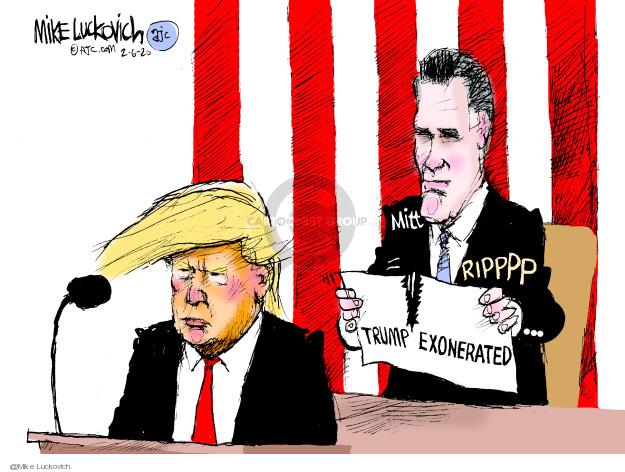 Cartoonist Mike Luckovich  Mike Luckovich's Editorial Cartoons 2020-02-06 impeach