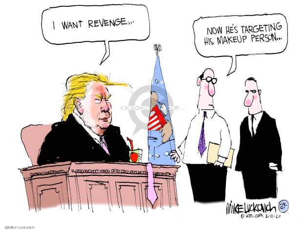 Mike Luckovich  Mike Luckovich's Editorial Cartoons 2020-02-11 Trump administration