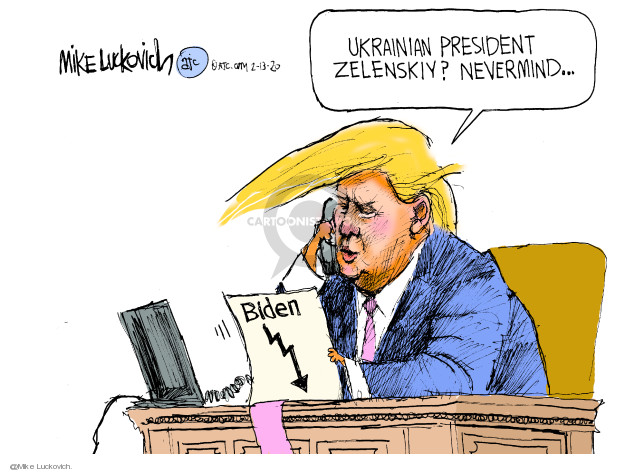 Cartoonist Mike Luckovich  Mike Luckovich's Editorial Cartoons 2020-02-13 foreign