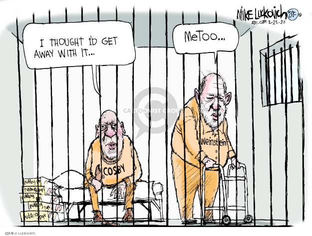 Cartoonist Mike Luckovich  Mike Luckovich's Editorial Cartoons 2020-02-25 sexual harassment