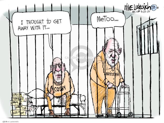 Cartoonist Mike Luckovich  Mike Luckovich's Editorial Cartoons 2020-02-25 assault