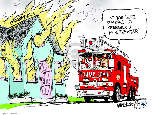 Cartoonist Mike Luckovich  Mike Luckovich's Editorial Cartoons 2020-02-26 president