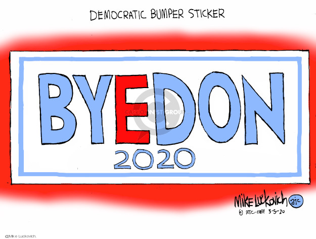 Cartoonist Mike Luckovich  Mike Luckovich's Editorial Cartoons 2020-03-05 election