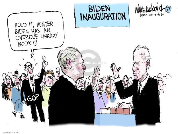 Cartoonist Mike Luckovich  Mike Luckovich's Editorial Cartoons 2020-03-06 2020 election