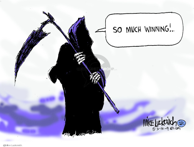 Mike Luckovich  Mike Luckovich's Editorial Cartoons 2020-03-15 fatality