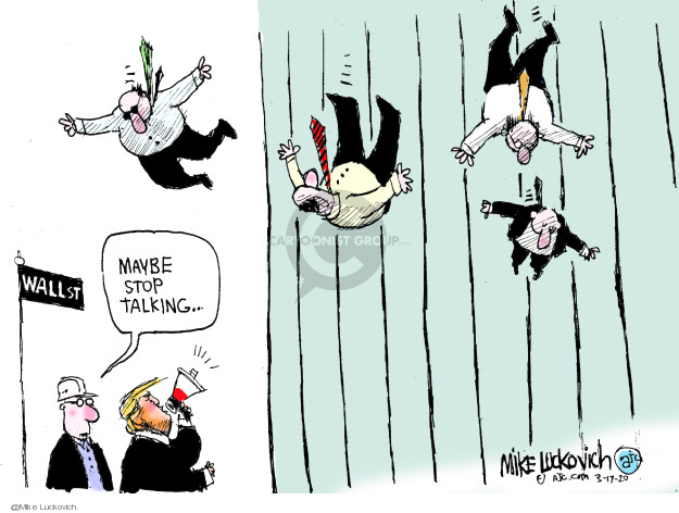 Cartoonist Mike Luckovich  Mike Luckovich's Editorial Cartoons 2020-03-17 wall