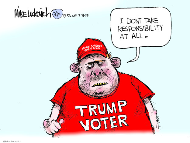 Mike Luckovich  Mike Luckovich's Editorial Cartoons 0000-00-00 Trump voter