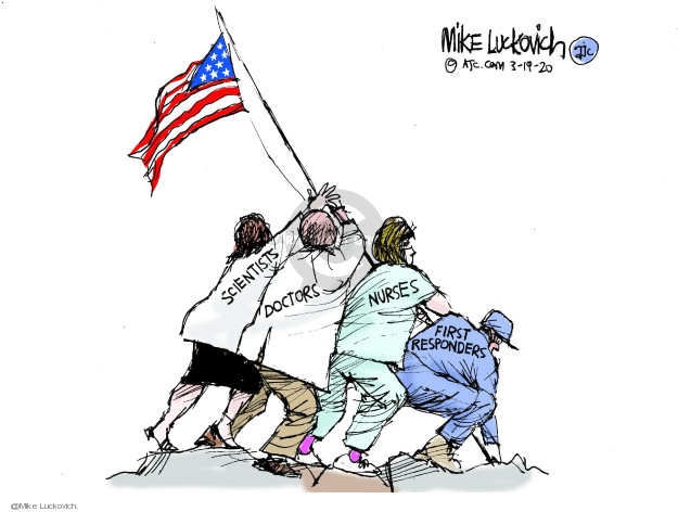 Cartoonist Mike Luckovich  Mike Luckovich's Editorial Cartoons 2020-03-19 care