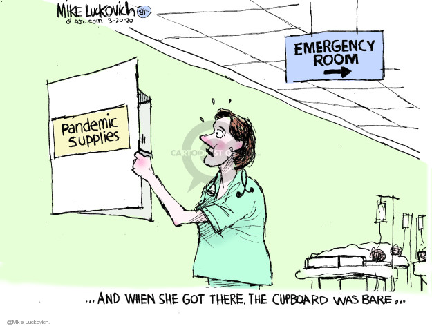 Mike Luckovich  Mike Luckovich's Editorial Cartoons 2020-03-20 worker