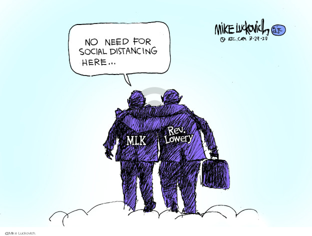 Mike Luckovich  Mike Luckovich's Editorial Cartoons 2020-03-28 activism
