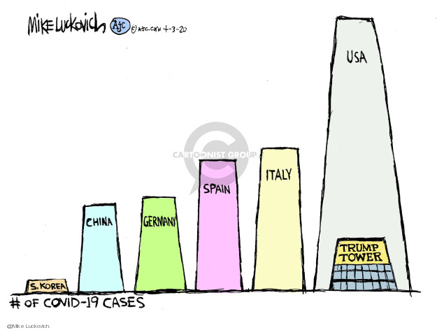 Mike Luckovich  Mike Luckovich's Editorial Cartoons 2020-04-03 coronavirus