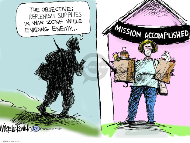 Mike Luckovich  Mike Luckovich's Editorial Cartoons 2020-04-12 war