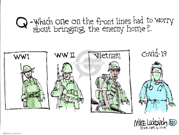 Mike Luckovich  Mike Luckovich's Editorial Cartoons 2020-04-17 Vietnam War
