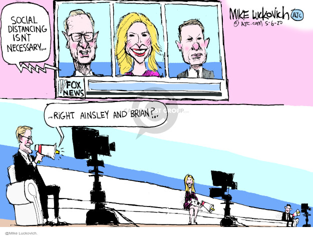 Cartoonist Mike Luckovich  Mike Luckovich's Editorial Cartoons 2020-05-06 news media