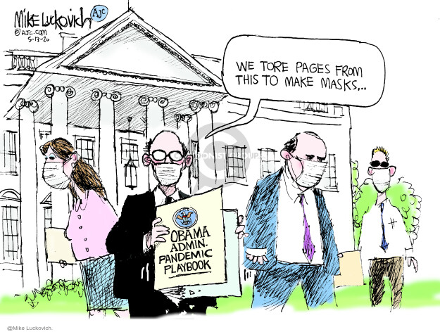 Mike Luckovich  Mike Luckovich's Editorial Cartoons 2020-05-13 White House