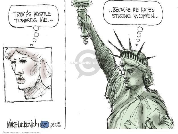 Cartoonist Mike Luckovich  Mike Luckovich's Editorial Cartoons 2020-05-15 liberty