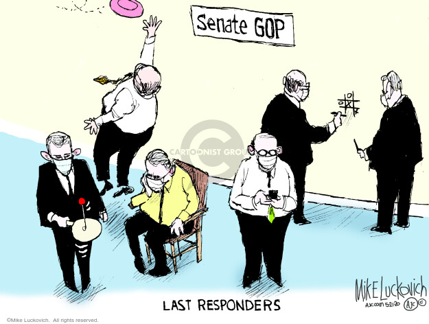 Cartoonist Mike Luckovich  Mike Luckovich's Editorial Cartoons 2020-05-21 republican senate