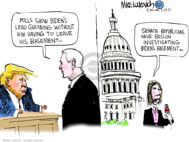 Cartoonist Mike Luckovich  Mike Luckovich's Editorial Cartoons 2020-05-24 election