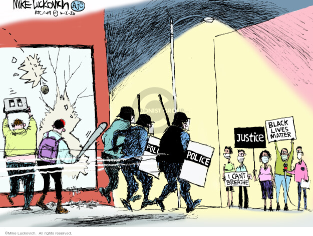 Mike Luckovich  Mike Luckovich's Editorial Cartoons 2020-06-02 Black Lives Matter