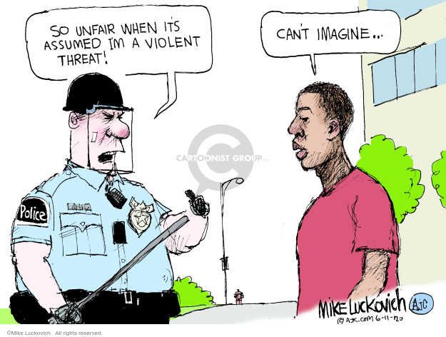 Mike Luckovich  Mike Luckovich's Editorial Cartoons 2020-06-11 discrimination