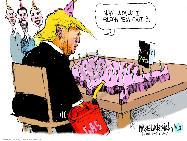Mike Luckovich  Mike Luckovich's Editorial Cartoons 2020-06-14 presidential administration
