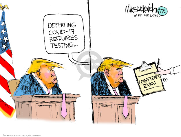 Cartoonist Mike Luckovich  Mike Luckovich's Editorial Cartoons 2020-06-23 election