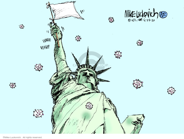 Mike Luckovich  Mike Luckovich's Editorial Cartoons 2020-06-24 disease
