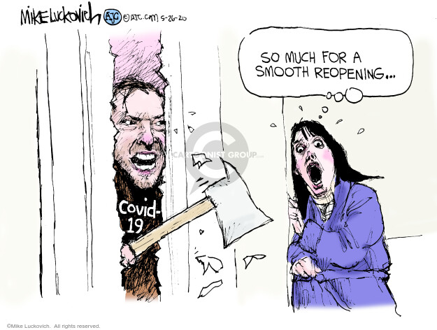 Mike Luckovich  Mike Luckovich's Editorial Cartoons 2020-06-26 disease