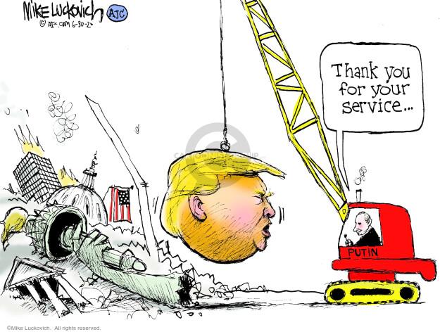 Cartoonist Mike Luckovich  Mike Luckovich's Editorial Cartoons 2020-06-30 armed forces