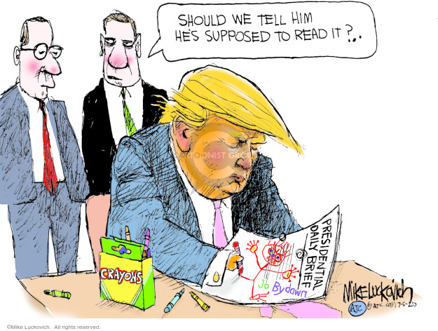 Mike Luckovich  Mike Luckovich's Editorial Cartoons 2020-07-05 presidential administration