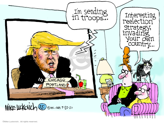 Mike Luckovich  Mike Luckovich's Editorial Cartoons 2020-07-22 presidential election