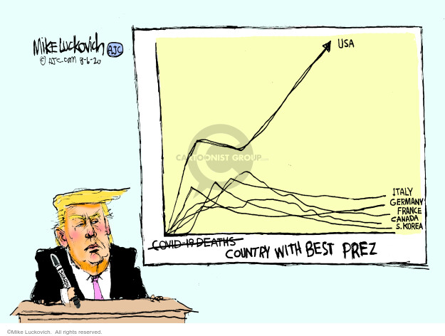Mike Luckovich  Mike Luckovich's Editorial Cartoons 2020-08-06 presidential administration