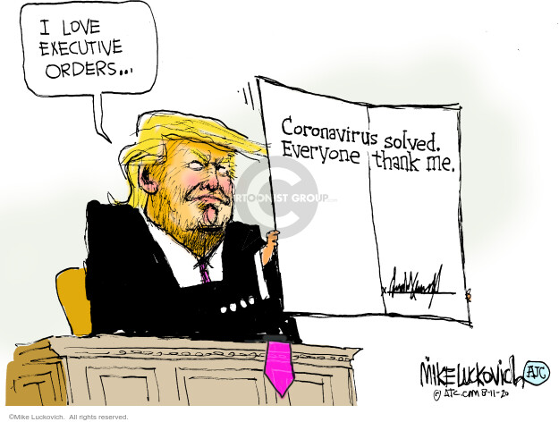 Mike Luckovich  Mike Luckovich's Editorial Cartoons 2020-08-11 disease
