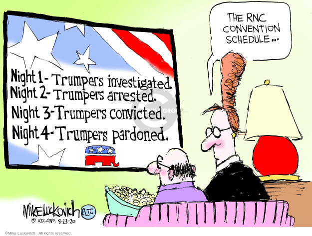 Mike Luckovich  Mike Luckovich's Editorial Cartoons 2020-08-23 investigation