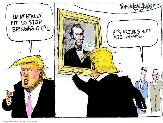 Mike Luckovich  Mike Luckovich's Editorial Cartoons 2020-09-04 Donald Trump