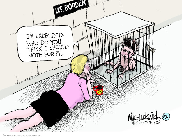 Mike Luckovich  Mike Luckovich's Editorial Cartoons 2020-09-09 voter