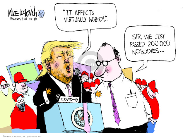 Mike Luckovich  Mike Luckovich's Editorial Cartoons 2020-09-23 health