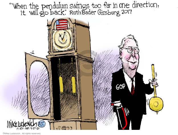 Mike Luckovich  Mike Luckovich's Editorial Cartoons 2020-09-27 Mitch McConnell