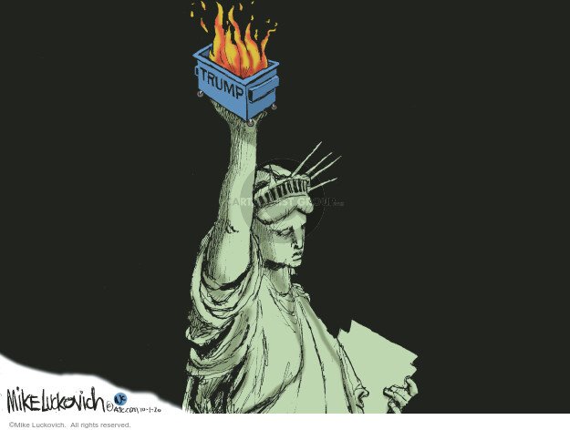 Mike Luckovich  Mike Luckovich's Editorial Cartoons 2020-10-01 liberty