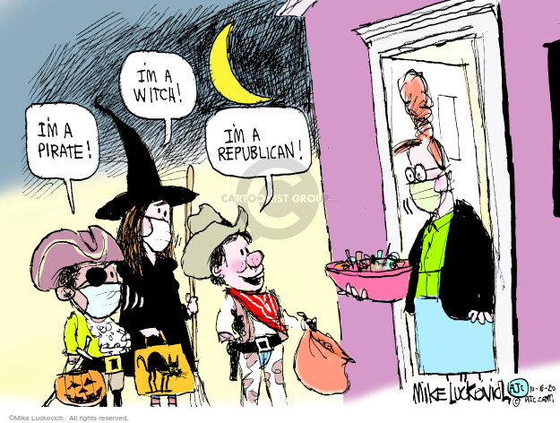 Mike Luckovich  Mike Luckovich's Editorial Cartoons 2020-10-06 White House