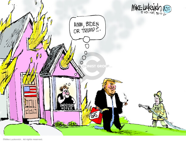 Mike Luckovich  Mike Luckovich's Editorial Cartoons 2020-10-11 republican politician