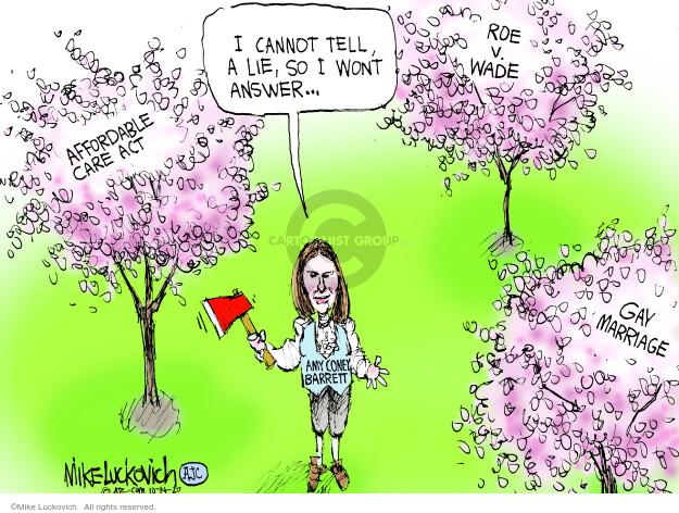 Mike Luckovich  Mike Luckovich's Editorial Cartoons 2020-10-14 politics