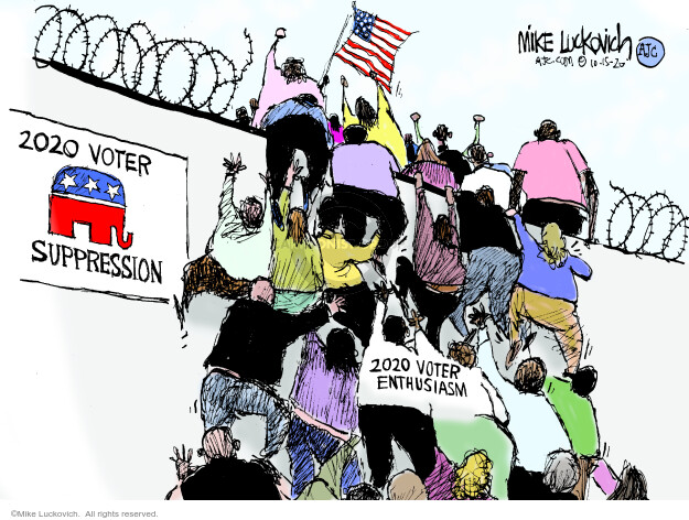 Mike Luckovich  Mike Luckovich's Editorial Cartoons 2020-10-15 election