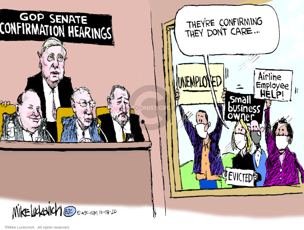 Mike Luckovich  Mike Luckovich's Editorial Cartoons 2020-10-18 republican politician
