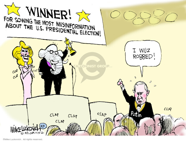 Mike Luckovich  Mike Luckovich's Editorial Cartoons 2020-11-12 presidential election