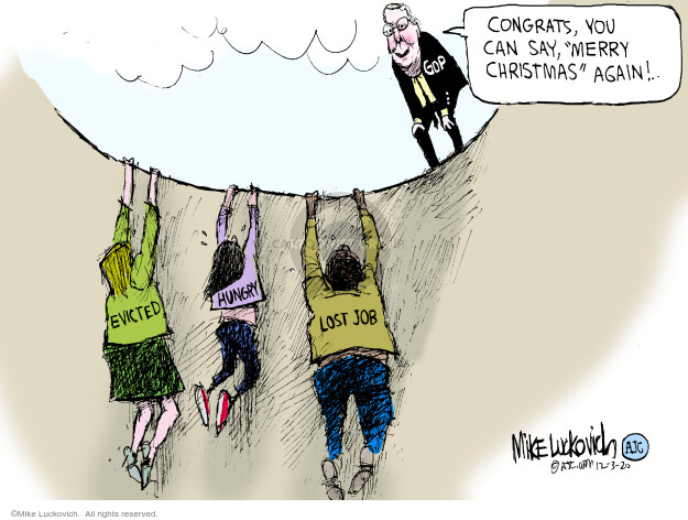 Mike Luckovich  Mike Luckovich's Editorial Cartoons 2020-12-03 medicine