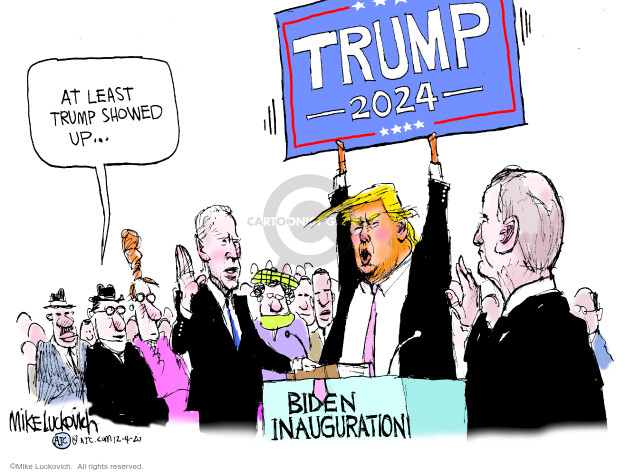 Mike Luckovich  Mike Luckovich's Editorial Cartoons 2020-12-04 Donald Trump Joe Biden