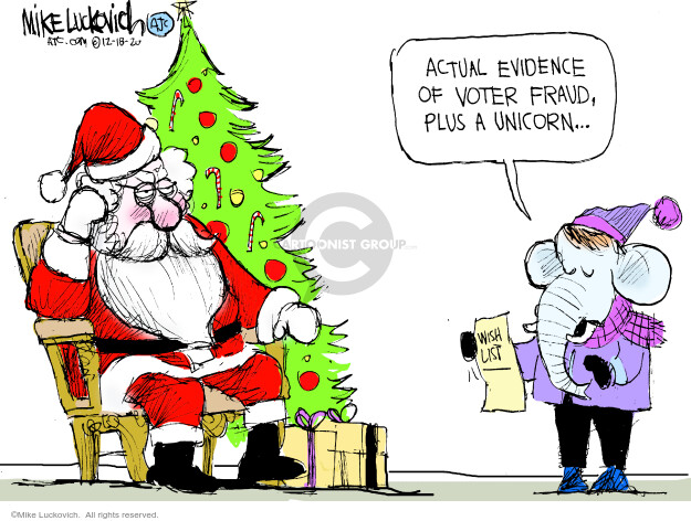 Mike Luckovich  Mike Luckovich's Editorial Cartoons 2020-12-18 voter fraud