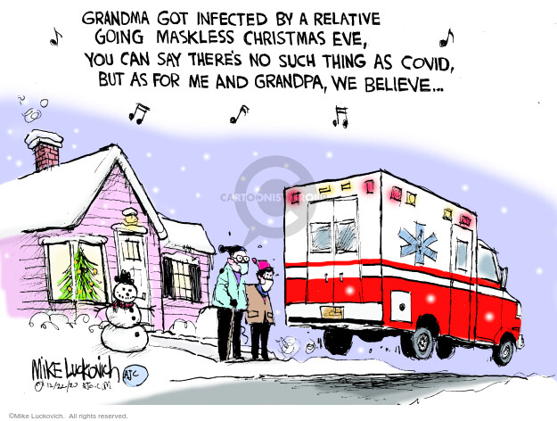 Mike Luckovich  Mike Luckovich's Editorial Cartoons 2020-12-22 medicine